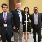 Panelist Simon Eckersley, Gary Rieschel, Sam Gupta and moderator Nina Xiang